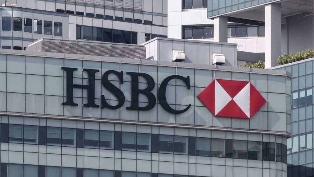 Die britische HSBC rechnet mit Kreditausfällen von bis zu 13 Milliarden: Büros der Bank in Hong Kong.