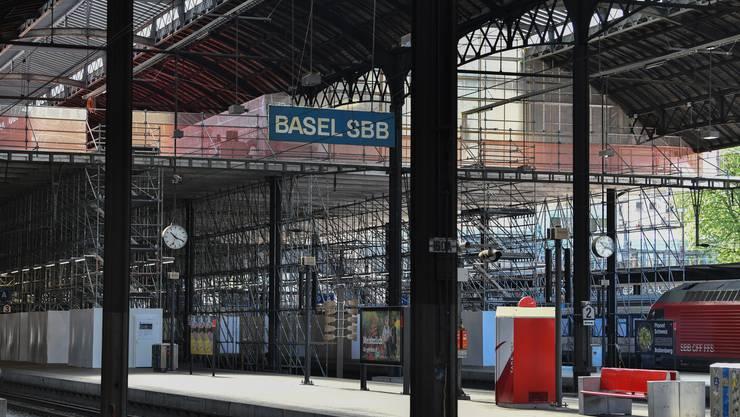 SBB-Baustelle Basel: Instandsetzung Perronhallen