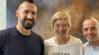 Die Grünliberale Partei Stadt Zürich hat Nicolas Cavalli (rechts), Esther Weber und Stefan Mühlemann für das Präsidium nominiert. (Bild: GPL Stadt Zürich)