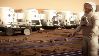 Mit virtuellen Bildern weckt Mars One Spekulationsträume.