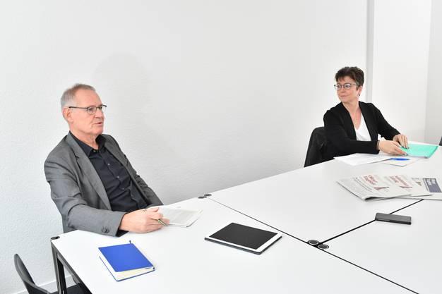 Zwei Ansichten treffen aufeinander: Stefan Nünlist und Karin Kissling im Streitgespräch.
