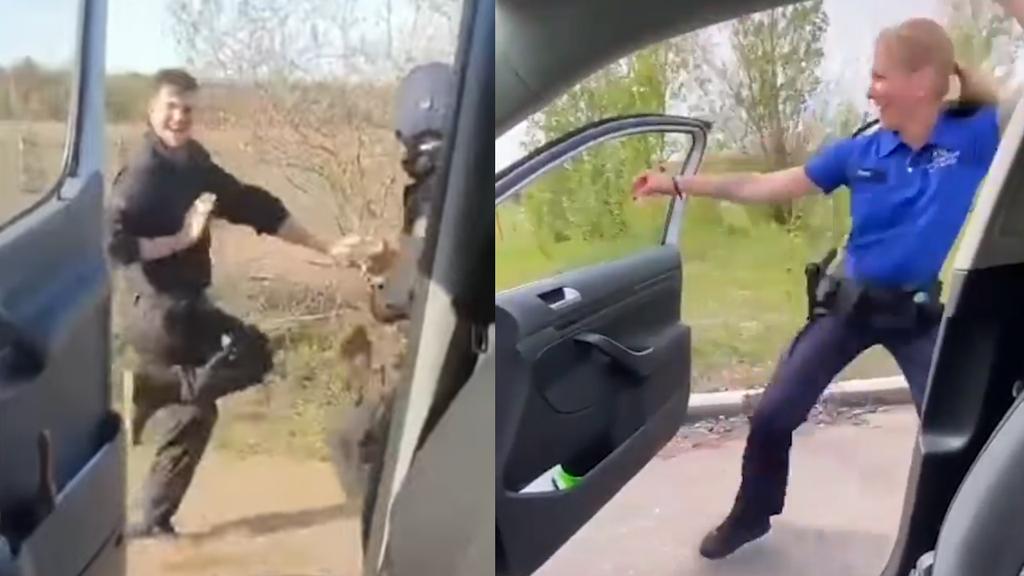 Basler oder Brandenburger Polizei – wer tanzt besser zum viralen Hit?