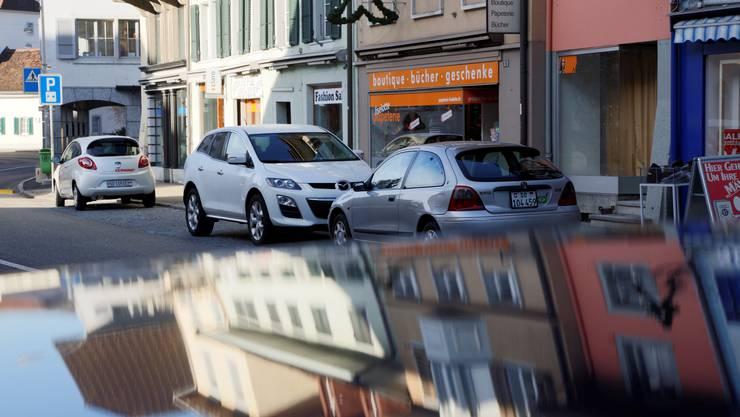 Parkplätze im Dorfzentrum von Balsthal