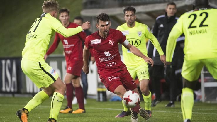 In der Saison 18/19 konnte der FCA beide Heimspiele gegen Vaduz gewinnen.