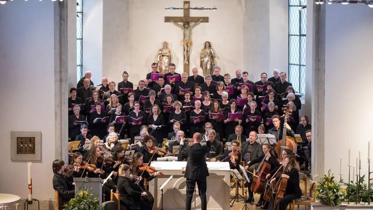 Der Kammerchor Buchsgau wusste unter der Leitung von Tobias von Arb zu überzeugen.