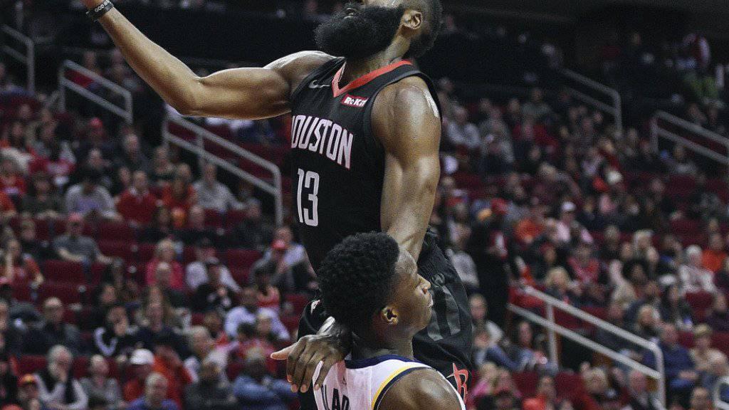 James Harden führte mit seinen 40 Punkten die Houston Rockets zum ersten Heimsieg der Saison
