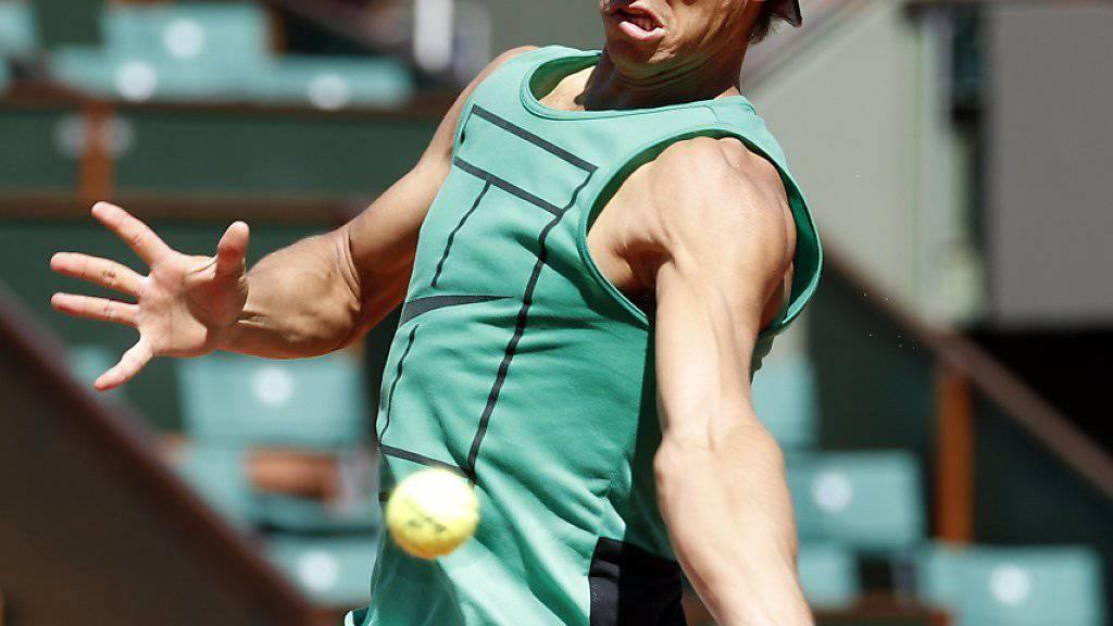 Wieder fit und voller Tatendrang: Rafael Nadal beim Training im Stade Roland-Garros