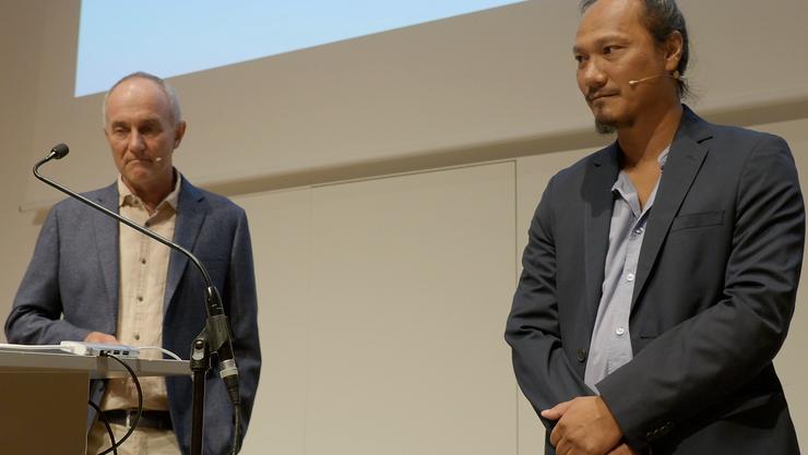 Links: Daniel Gysin, Präsident. Rechts: Pueng That, Geschäftsführer
