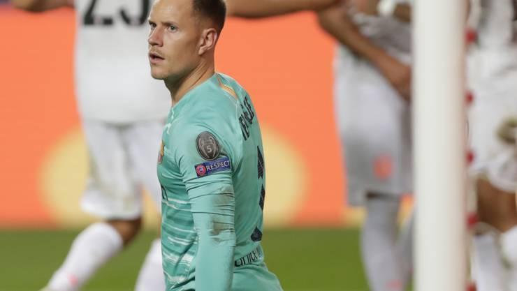 Erst das Debakel gegen die Bayern, nun eine Knieoperation: Barcelona-Goalie Marc-Andre ter Stegen macht keine einfache Zeit durch