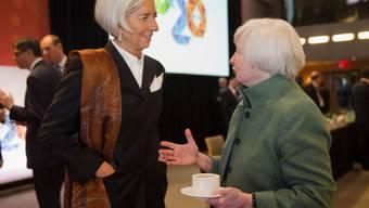 IWF-Chefin Christine Lagarde mit Fed-Chefin Janet Yellen