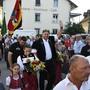 Empfang Schwingerkönig Christian Stucki in Lengnau