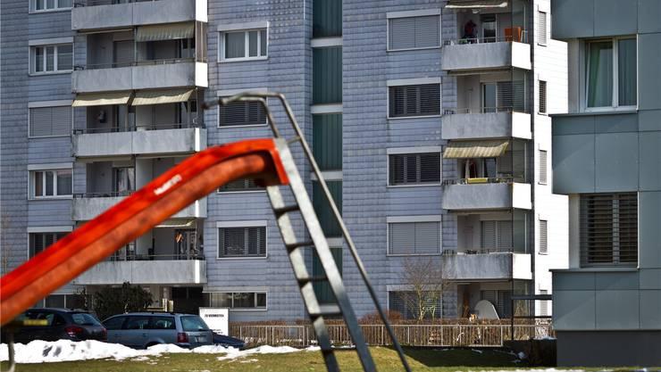 Die Wohnungen in der Wynematte entsprechen nicht mehr heutigen Standards. Das Quartier hat einen schlechten Ruf. Chris Iseli