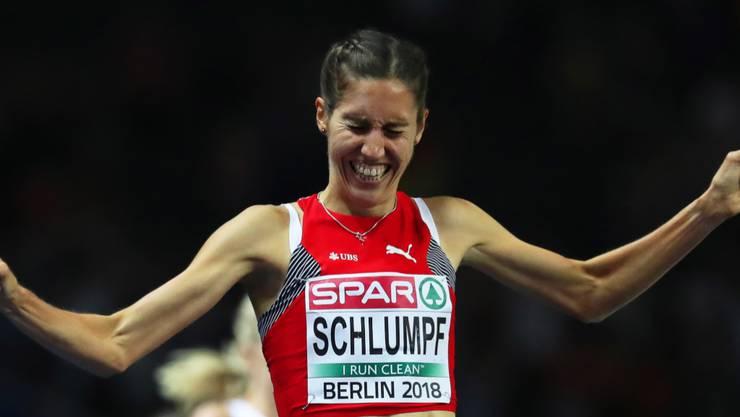 Fabienne Schlumpf - hier bei ihrem Lauf zu EM-Silber über 3000 m Steeple - muss ihr Marathon-Debüt verschieben
