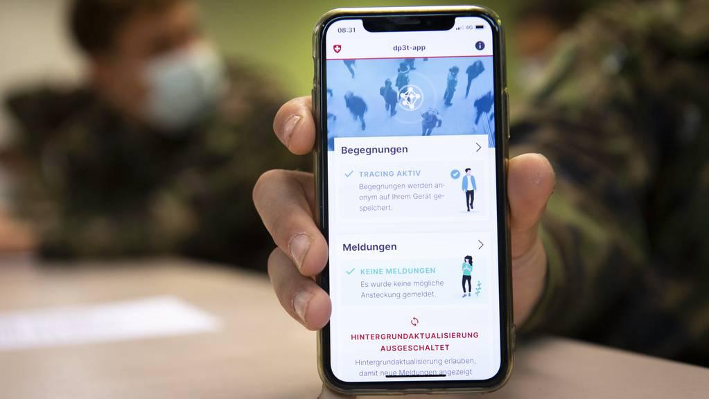 Die Tracing-App könnte ab Ende Juni für die Bevölkerung zugänglich sein.