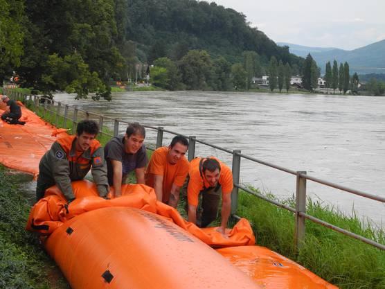 Die Beaver-Elemente in Wallbach werden wieder abgebaut