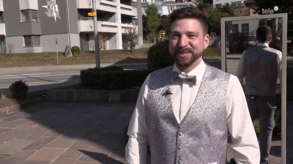Anzug Bräutigam / Die letzten Vorbereitungen