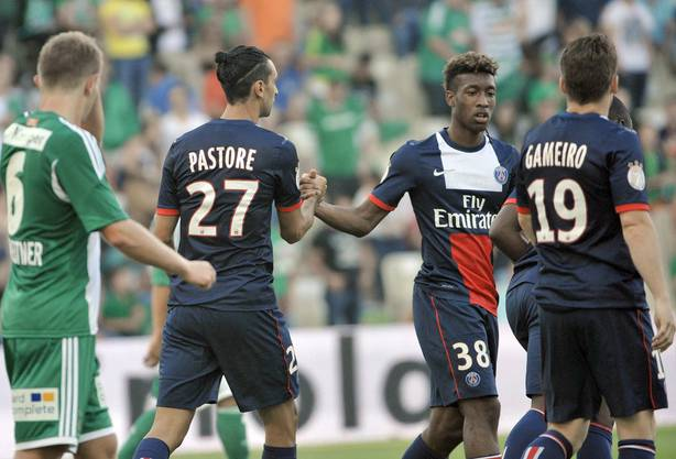 Kingsley Coman (Nr. 38) hat das Fussball-ABC bei Paris Saint-Germain erlernt.