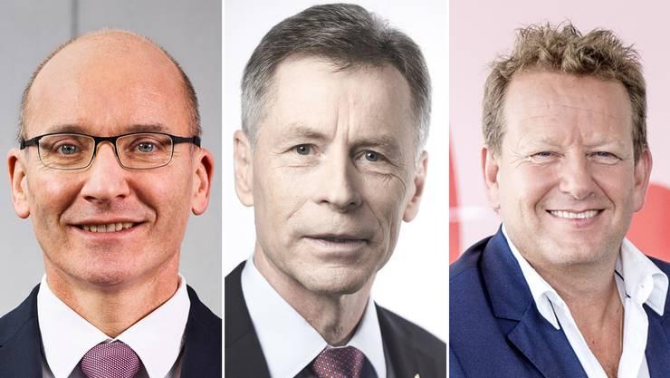 Von links: Emmi-Chef Urs Riedener, Ulrich Hurni, Interimschef und Thomas Baur, Leiter Poststellen.