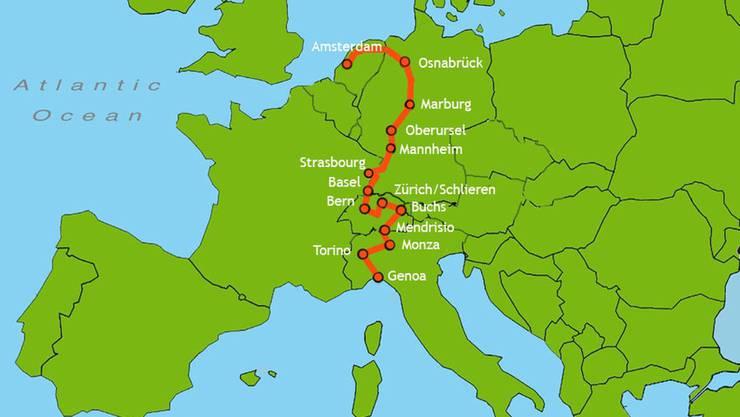 Der Durchfahrtsplan der WAVE 2012
