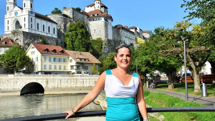 SVP-Politikerin Martina Bircher fordert, dass das Jugendheim auf der Festung (im Hintergrund) zum Tourismus- und Kulturort umzunutzen sei. Patrick Furrer