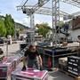 Aufbauarbeiten Donnschtig Jass von SRF in Balsthal