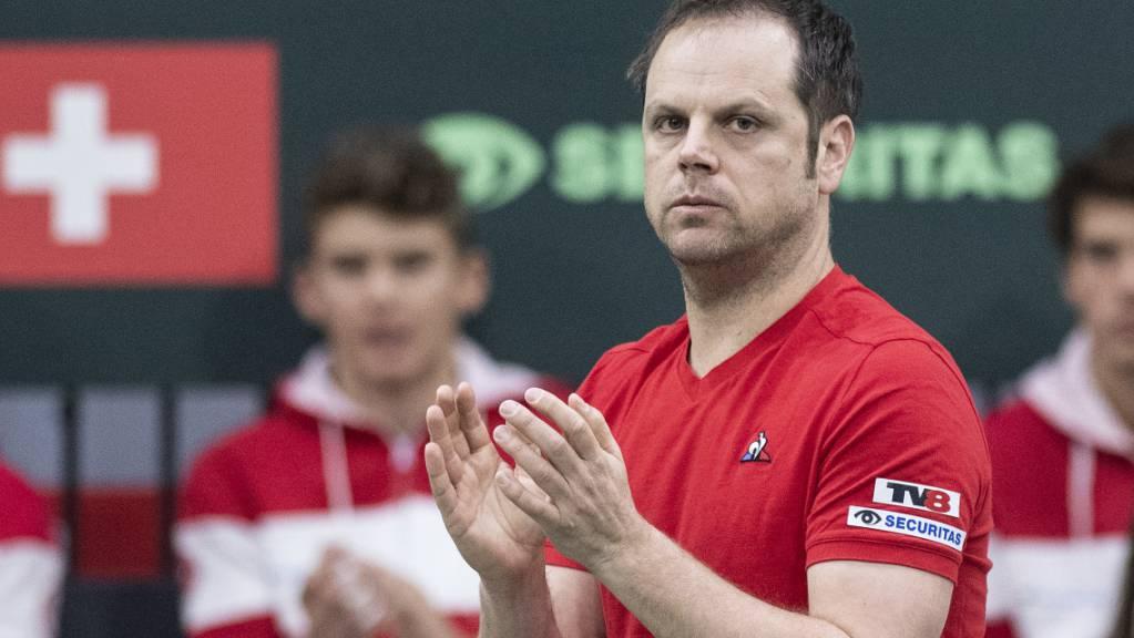Captain Severin Lüthi und das Schweizer Davis-Cup-Team kennen ihren nächsten Gegner