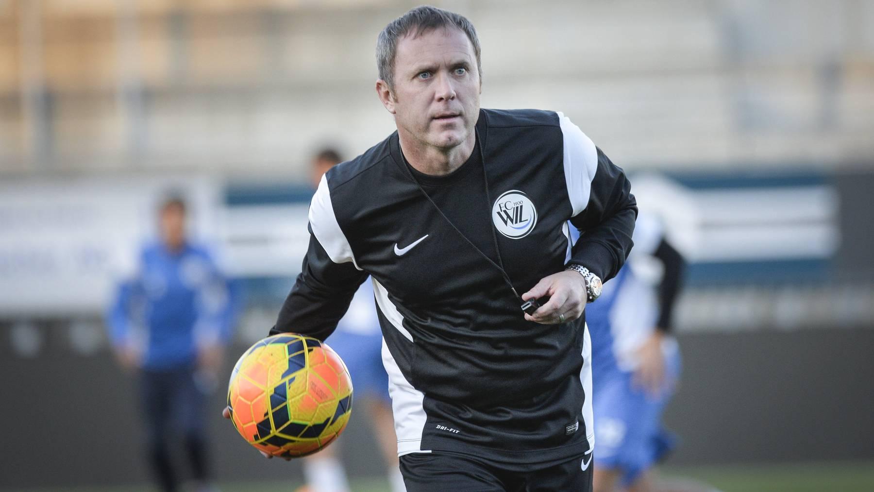 Kevin Cooper beim ersten Training mit dem FC Wil letzten November - jetzt muss er den Club schon wieder verlassen.