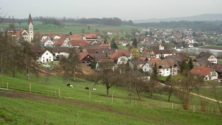 Blick auf die Gemeinde Wohlenschwil.