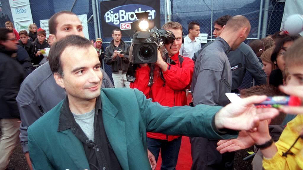 Stibe Stefan Dettling beim Auszug aus dem Big-Brother-Container