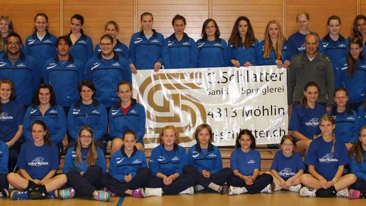 Volley Möhlin ist gerüstet – im neuen Outfit geht's in die Saison 2013/2014.
