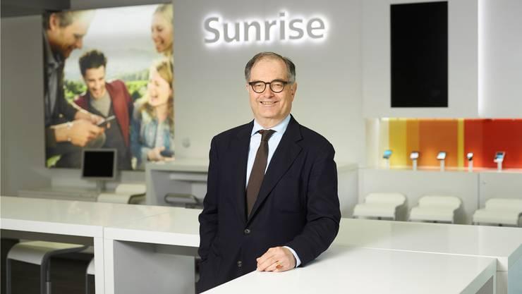 Spezialist für Fusionen: Sunrise-Präsident Peter Kurer.