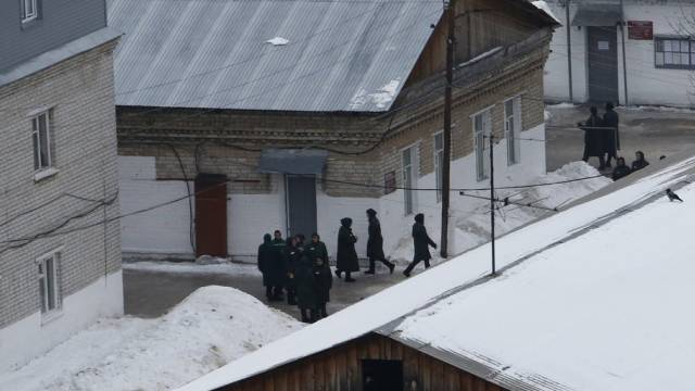Blick auf einen Gefängnishof in Russland (Archiv)