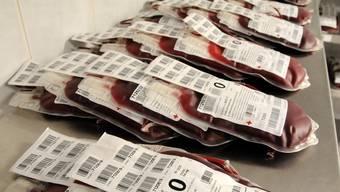 Derzeit Mangelware: Blutreserven der Blutgruppe 0 negativ (Symbolbild)