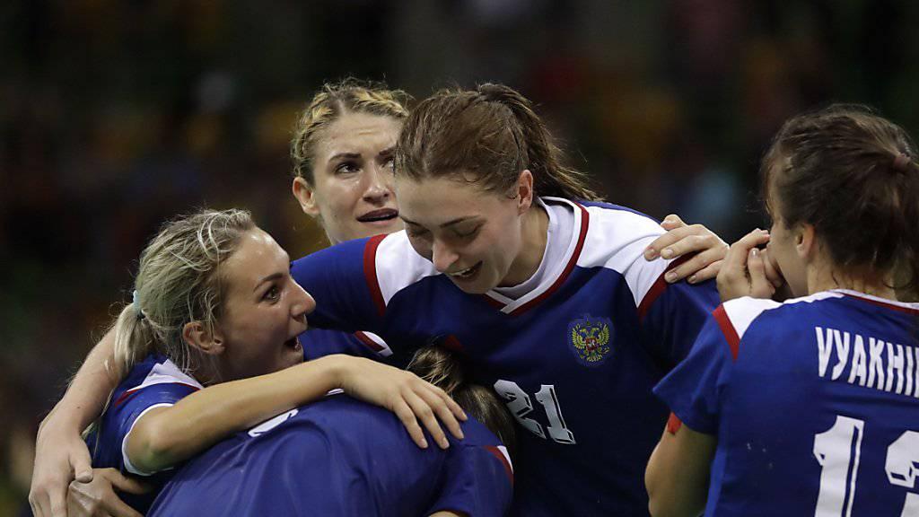 Jubel nach einem überzeugenden Olympiaturnier: Die russischen Handballerinnen gewannen im Final gegen Frankreich die Goldmedaille