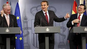 Die starken Männer der EU: Van Rompuy, Zapatero und Barroso