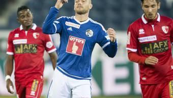 Marco Schneuwly brachte mit dem Ausgleich zum 1:1 den FC Luzern zurück ins Spiel