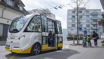 Der selbstfahrende Bus Trapizio ist seit einem Jahr in Schaffhausen im Einsatz. Für die BLT hatte er einmal Vorbildfunktion – doch das ist längst vorbei.