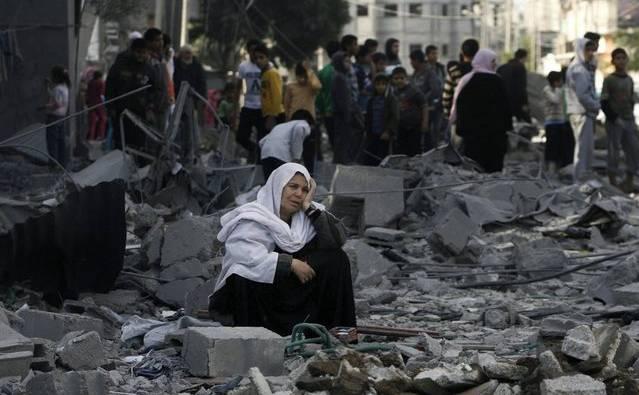Zerstörung und Verzweiflung in Gaza nach einem israelischen Angriff