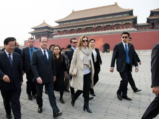 Valerie Trierweiler und Präsident Hollande Ende April 2013 in Peking