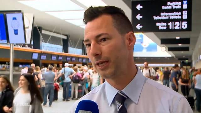 Grossandrang am Flughafen: Über 100`000 Passagiere an einem Tag