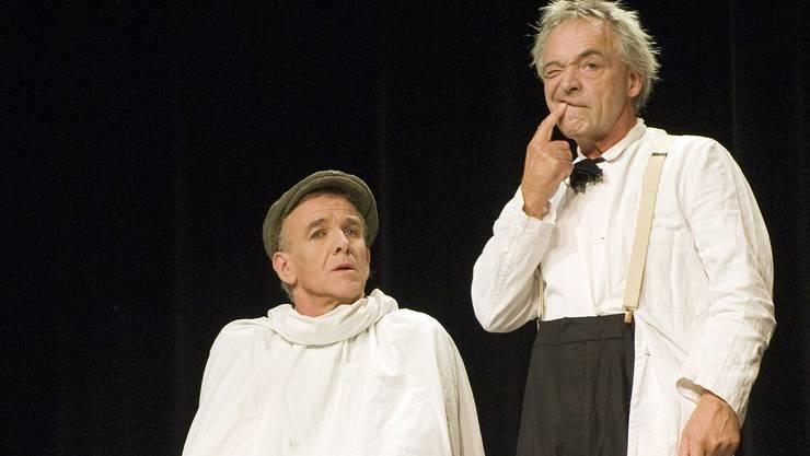 Marcel Joller (links) und Ueli Bichsel als Lufthunde.