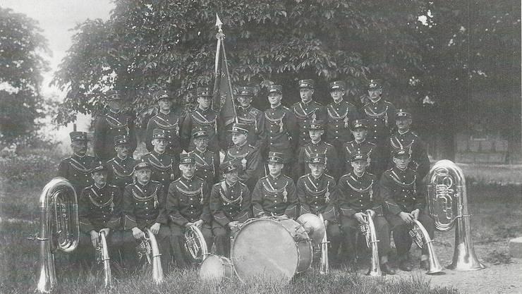 Die Musikgesellschaft zu ihren Anfängen 1928.