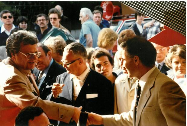 Willi Erzberger (l.) war 1980 Teil des Organisationskomitees. Neben ihm im schwarzen Sakko ist Rudolf Reisdorf.