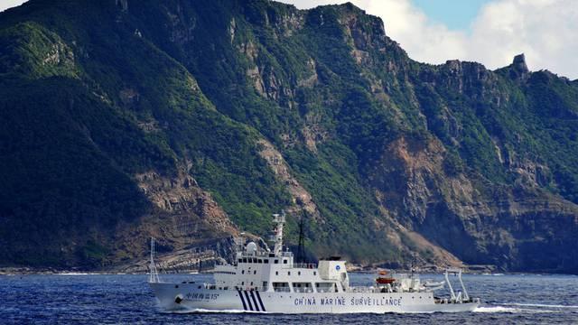 Ein chinesisches Patrouillenboot erreicht die Inselgruppe Diaoyu, die auf japanisch Senkaku heisst