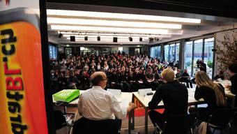 An der Podiumsveranstaltung zur Ausschaffungsinitiative war die Aula der gewerblich-industrielle Berufsschule in Liestal proppenvoll.