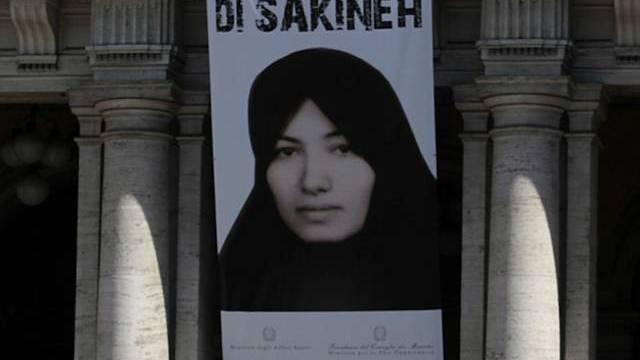 Italienische Regierung liess Poster an der Fassade des Regierungssitzes aufhängen