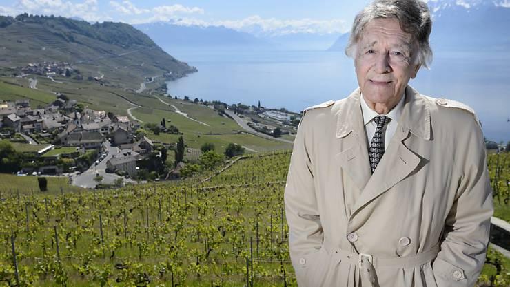 Der verstorbene Landschaftsschützer Franz Weber im Mai 2014 im Weinbaugebiet Lavaux, für dessen Schutz er jahrzehntelang kämpfte.
