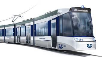 Das blaue Fensterband soll an die Limmat erinnern: So sehen die Fahrzeuge aus, die ab Dezember 2022 zwischen den Bahnhöfen Altstetten und Killwangen-Spreitenbach im Einsatz stehen werden.
