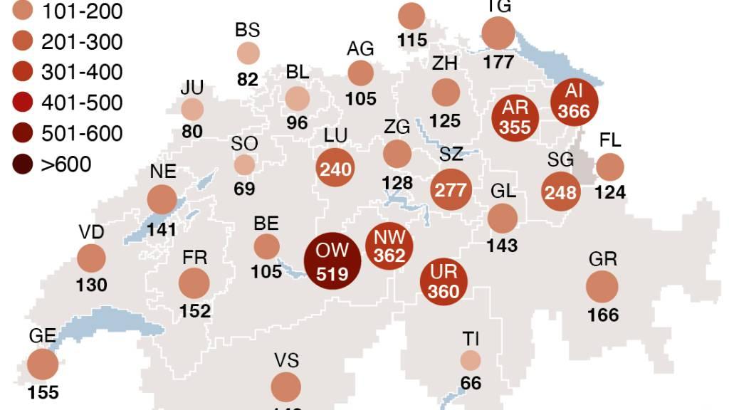 BAG meldet 1442 neue Coronavirus-Fälle innerhalb von 24 Stunden