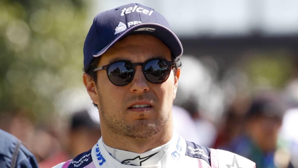 Sergio Perez ist der erste Formel-1-Fahrer, der positiv auf das Coronavirus getestet wurde